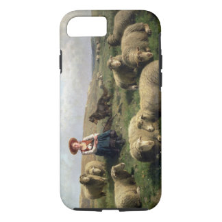 Shepherdess with Sheep in a Landscape iPhone 8/7 Case
