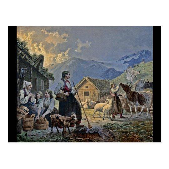 Shepherdesses Hut on the Mountain Postcard