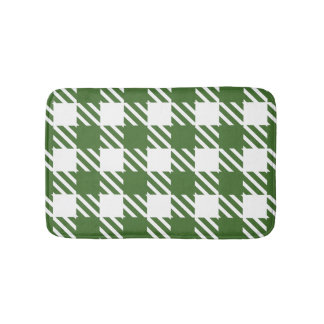 Shepherd's Check, stripe, Customise, Change colour Bath Mat