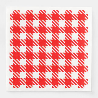 Shepherd's Check, stripe, Customise, Change colour Paper Napkin