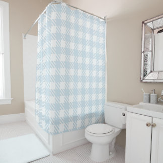 Shepherd's Check, stripe, Customise, Change colour Shower Curtain