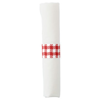 Shepherd's Check, stripe, Gingham red Napkin Ring