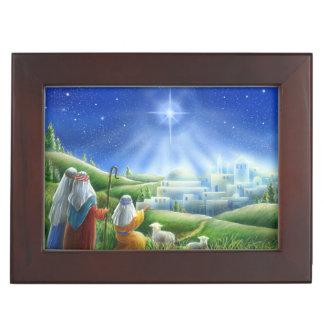 Shepherds Come to Bethlehem Keepsake Box