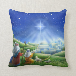 Shepherds Come to Bethlehem Pillow
