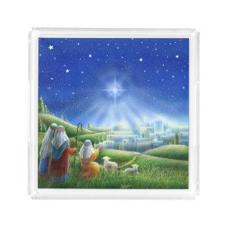 Shepherds Come to Bethlehem Tray