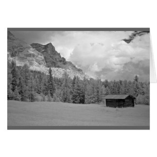 Shepherd's hut in Dolomites, Italy Card