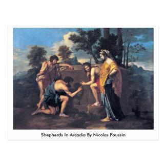 Shepherds In Arcadia By Nicolas Poussin Postcards