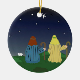Shepherds in the Fields Christmas Ornament