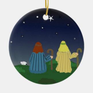 Shepherds in the Fields Christmas Tree Ornament