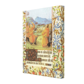 Shepherds in the fields near Bethlehem, medieval Gallery Wrapped Canvas