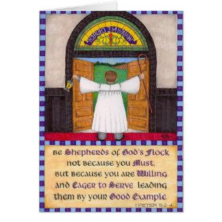 Shepherds of God's Flock Pastor Appreciation Card