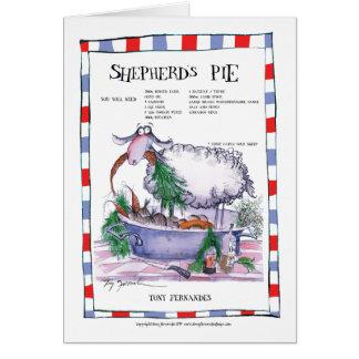 shepherds pie recipe, tony fernandes card