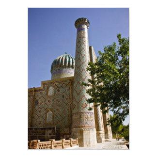 Sher-Dor Madrasah: Minaret DSC2865 13 Cm X 18 Cm Invitation Card