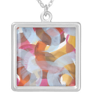 Sherbert I Silver Plated Necklace