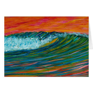 Sherbert Wave Greeting Card