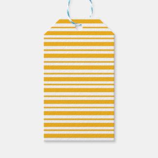 Sherbet Orange Pinstripe Gift Tags