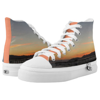 Sherbet Sunset Beach Printed Shoes