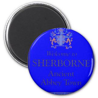 sherborne blue refrigerator magnet