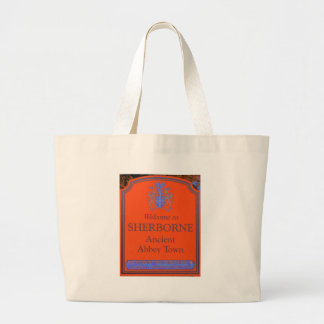 sherborne orange large tote bag