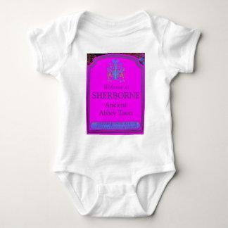 sherborne pink baby bodysuit