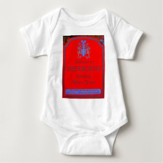 sherborne red baby bodysuit