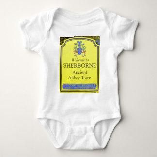 sherborne yellow baby bodysuit