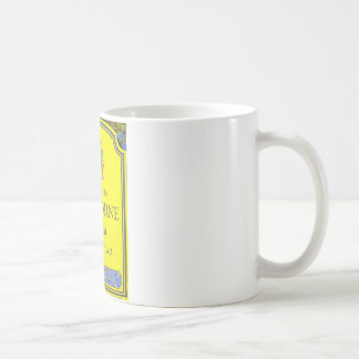 sherborne yellow coffee mug