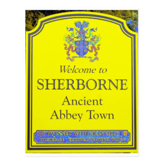 sherborne yellow postcard