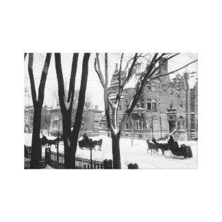 Sherbrooke Street in winter Montreal Wm Notman - Canvas Print