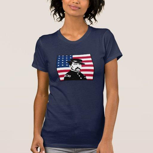 Sheridan and the American Flag -- Navy Blue Shirt