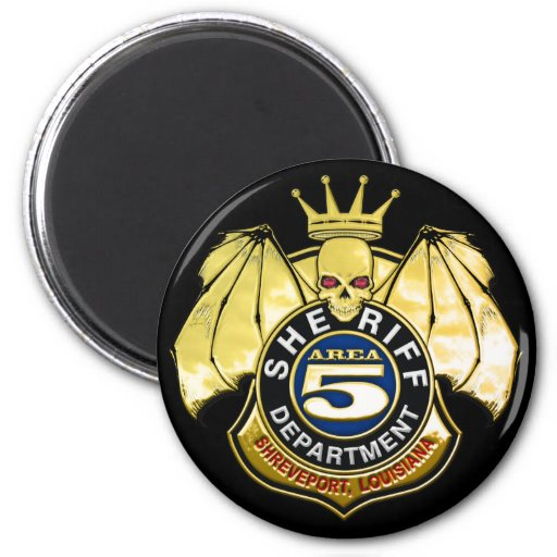 Sheriff Area 5 Badge 6 Cm Round Magnet