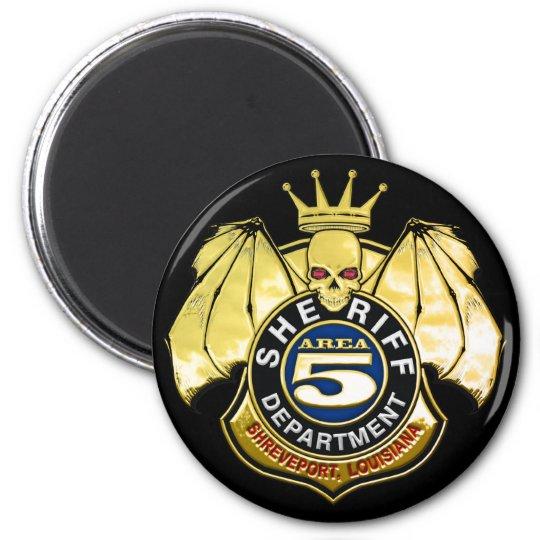 Sheriff Area 5 Badge 6 Cm Round Magnet