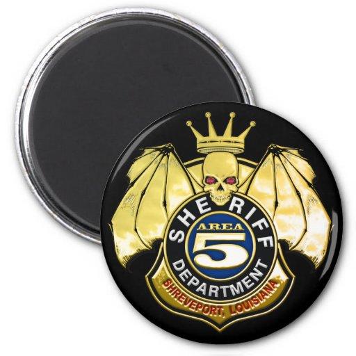 Sheriff Area 5 Badge Refrigerator Magnet