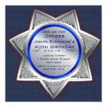 Sheriff Badge Birthday Party Invitations 13 Cm X 13 Cm Square Invitation Card