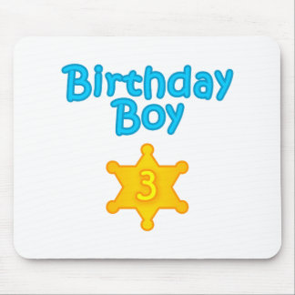 Sheriff Birthday Boy 3 Mouse Pad