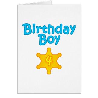 Sheriff Birthday Boy 4 Greeting Card