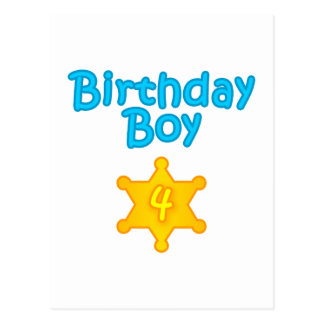 Sheriff Birthday Boy 4 Postcard