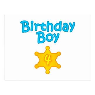 Sheriff Birthday Boy 4 Postcard