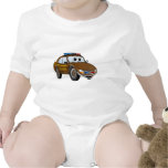 Sheriff Car Cartoon 4 BR Baby Bodysuit