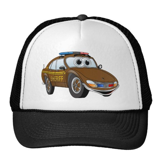 Sheriff Car Cartoon 4 BR Cap