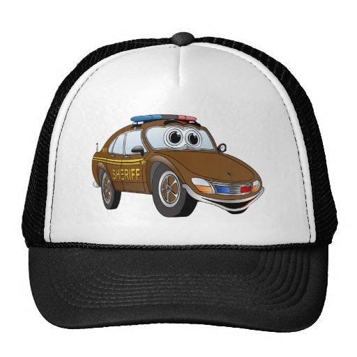 Sheriff Car Cartoon 4 BR Trucker Hats
