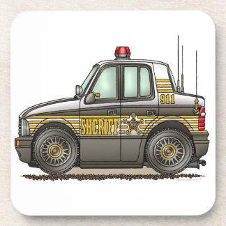 Sheriff Car Patrol Car Coaster