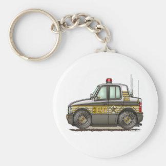 Sheriff Car Patrol Car Keychain