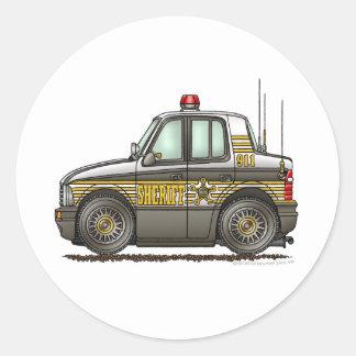 Sheriff Car Patrol Car Law Enforcement Round Sticker