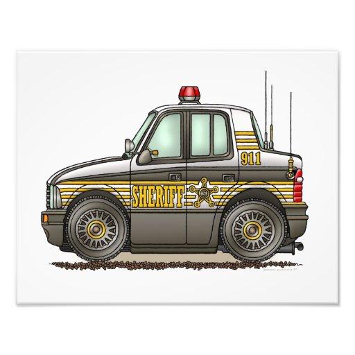 Sheriff Car Patrol Car Photo Print