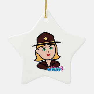 Sheriff Ceramic Star Decoration