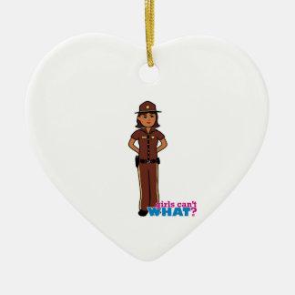 Sheriff - Dark Ceramic Heart Decoration