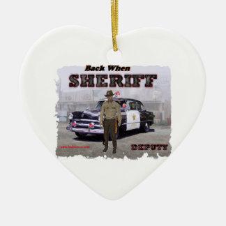 Sheriff_Deputy_1951 Ceramic Heart Decoration