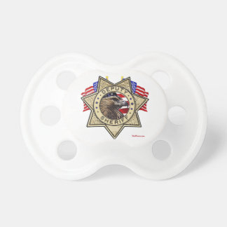 Sheriff Deputy Badge Baby Pacifiers