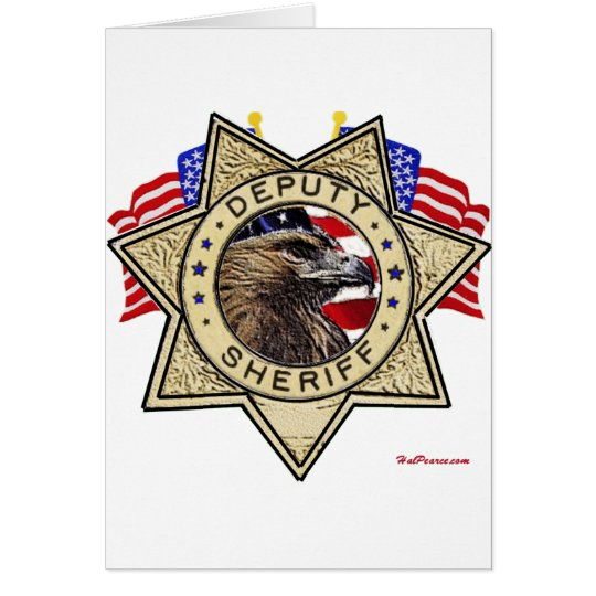 Sheriff Deputy Badge Card